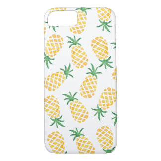 Pineapple Watercolour pattern iphone cover