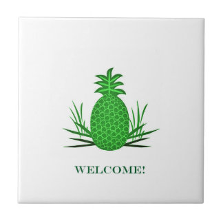 pineapple welcome traditional tile design