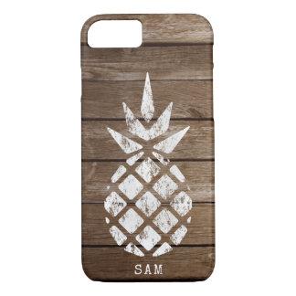 Pineapple, Whitewash on Wood Case-Mate iPhone Case