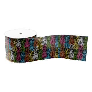 Pineapple Wild and Sweet Grosgrain Ribbon