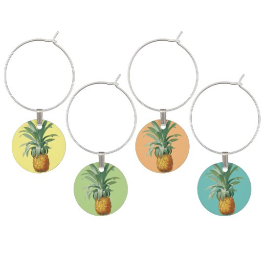 Pineapple Wine Charms