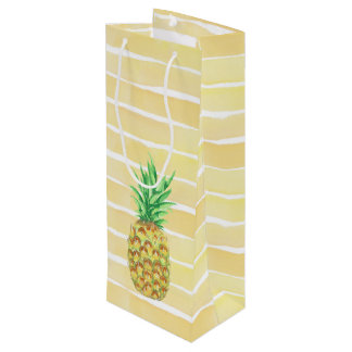 Pineapple Wine Gift Bag