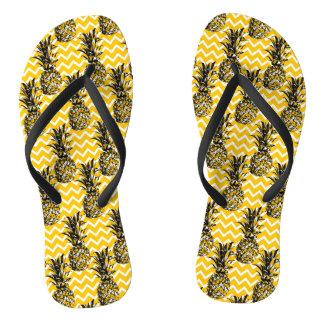 Pineapple Zigzags Flip Flops