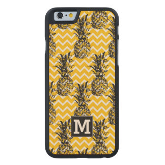 Pineapple Zigzags | Monogram Carved® Maple iPhone 6 Slim Case