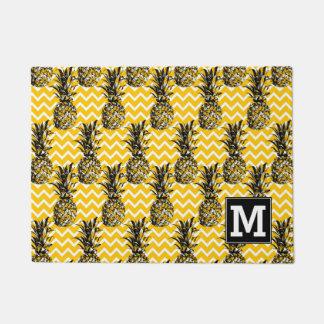 Pineapple Zigzags   Monogram Doormat