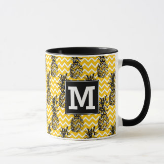 Pineapple Zigzags | Monogram Mug