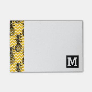 Pineapple Zigzags | Monogram Post-it® Notes