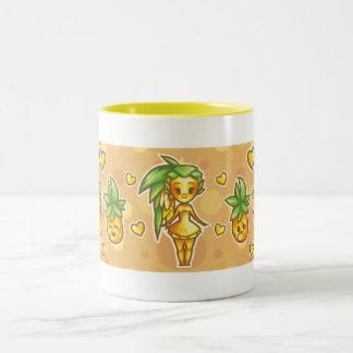 PineappleChibi Two-Tone Coffee Mug