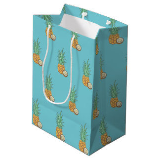 Pineapples and Cocoanuts Medium Gift Bag