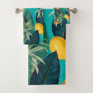 Pineapples And Lemons Exotic Bath Towel Set