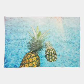 Pineapples in Swimming Pool Kitchen Towels