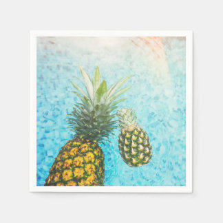 Pineapples in Swimming Pool Paper Napkins