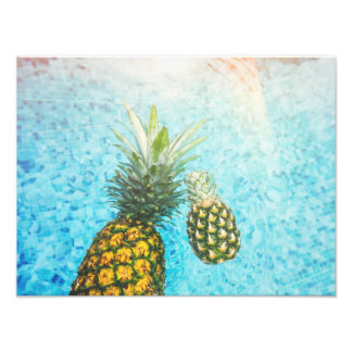 Pineapples in Swimming Pool Photographic Print