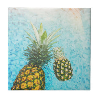 Pineapples in Swimming Pool Tile