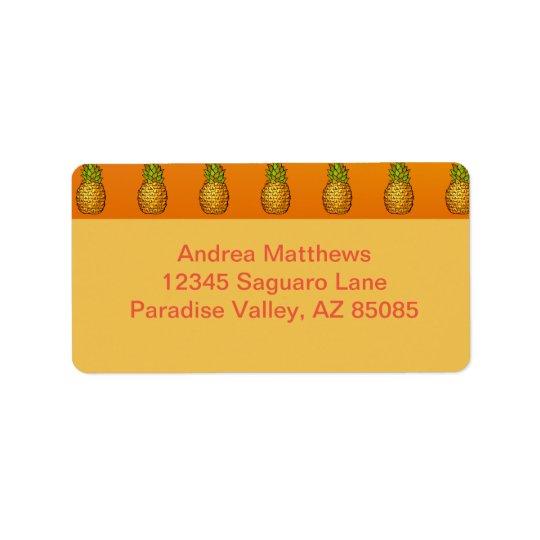 Pineapples Label