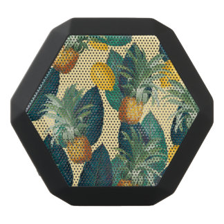 pineapples lemons yellow black bluetooth speaker