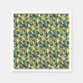 pineapples lemons yellow disposable napkins