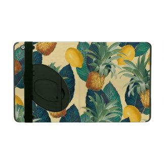pineapples lemons yellow iPad cover