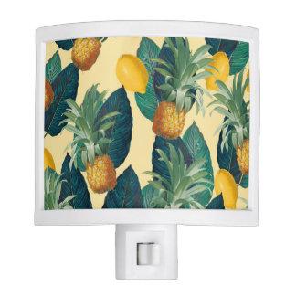 pineapples lemons yellow night lite