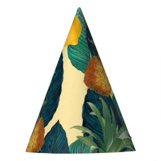 pineapples lemons yellow party hat