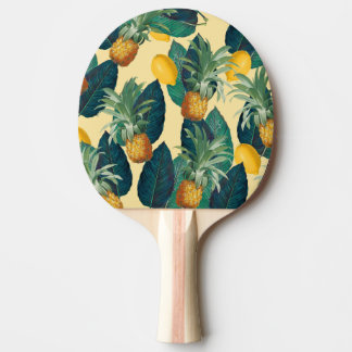 pineapples lemons yellow ping pong paddle