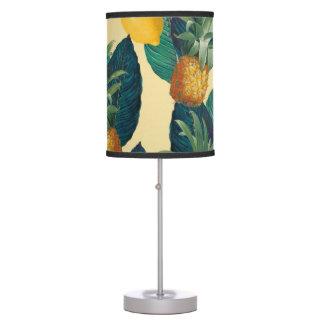 pineapples lemons yellow table lamp