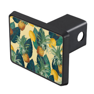 pineapples lemons yellow trailer hitch cover