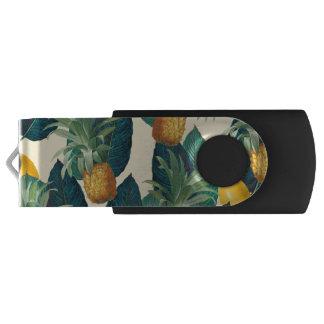 pineapples lemons yellow USB flash drive