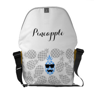 """Pineapples"" Messenger Bag. Courier Bag"