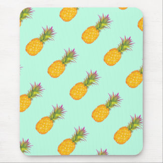 Pineapples - Mint Tropical Mousepad