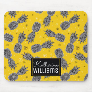 Pineapples On Gold | Add Your Name Mouse Pad