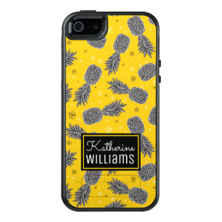 Pineapples On Gold | Add Your Name OtterBox iPhone 5/5s/SE Case