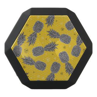 Pineapples On Gold Black Bluetooth Speaker