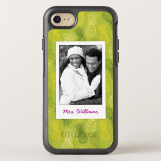 Pineapples On Green Pattern | Monogram OtterBox Symmetry iPhone 8/7 Case