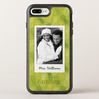 Pineapples On Green Pattern | Monogram OtterBox Symmetry iPhone 8 Plus/7 Plus Case