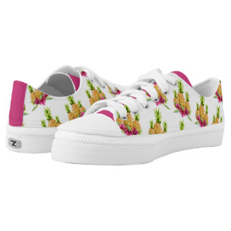 Pineapples Orchids Ferns Tropical Low-Top Sneakers