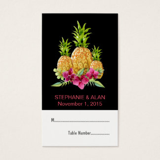 Pineapples Orchids Ferns Tropical Place Cards