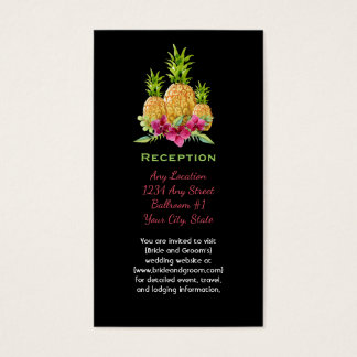 Pineapples Orchids Ferns Tropical Reception Business Card