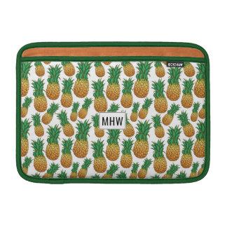 Pineapples Pattern custom monogram Macbook sleeves