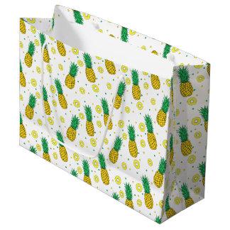 Pineapples pattern large gift bag