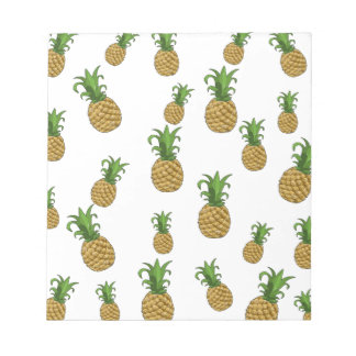 Pineapples pattern notepad