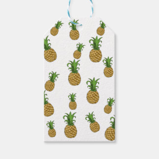 Pineapples pattern pack of gift tags