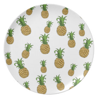 Pineapples pattern plate