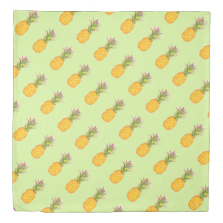 Pineapples Pattern - Queen Duvet Cover