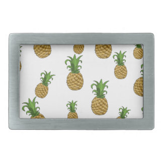 Pineapples pattern rectangular belt buckles