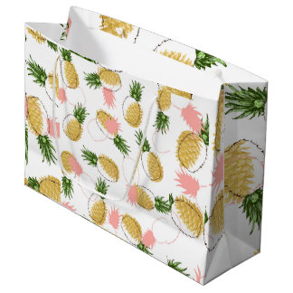 Pineapples & Pine Cones Large Gift Bag