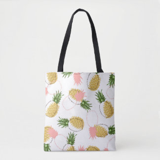 Pineapples & Pine Cones Tote Bag