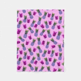 Pineapples Print Fleece Blanket
