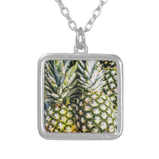 Pineapples Silver Plated Necklace