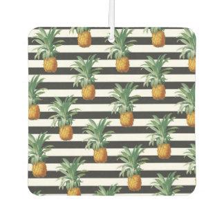 pineapples stripes grey air freshener